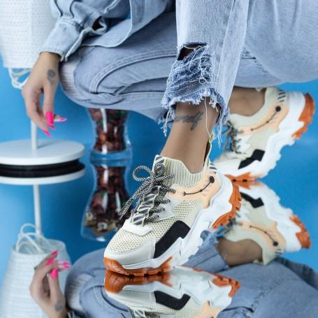 Pantofi Sport Dama JG16 Bej Mei