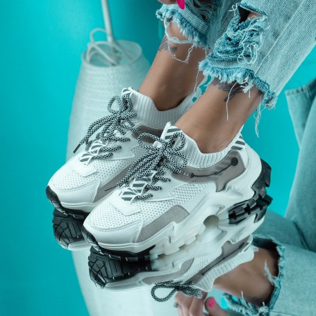 Pantofi Sport Dama JG16 Alb Mei