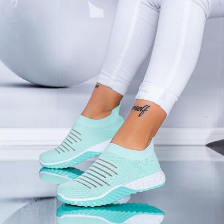 Pantofi Sport Dama S6 Turcoaz Mei