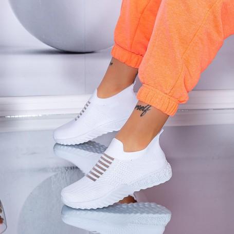Pantofi Sport Dama S7 Alb Mei