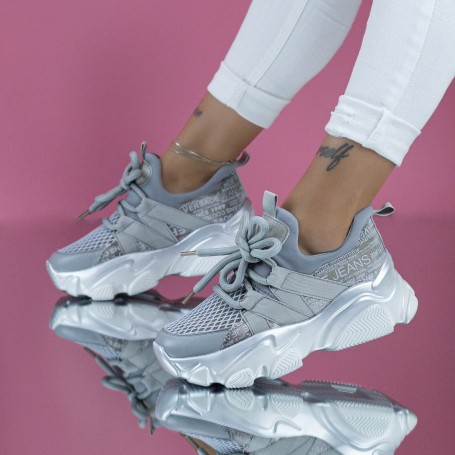 Pantofi Sport Dama SZ303 Gri Mei