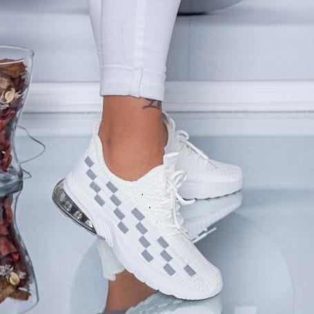 Pantofi Sport Dama LGFL1 White-Grey Mei