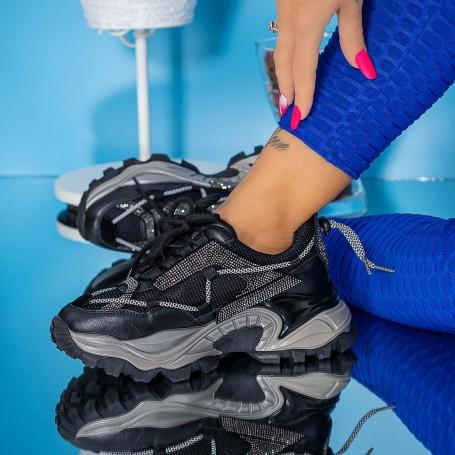 Pantofi Sport Dama SZ333 Negru Mei