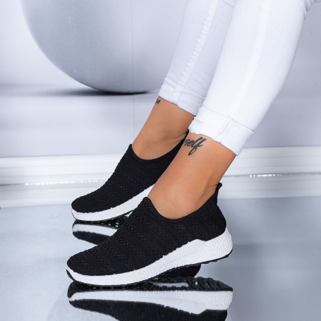 Pantofi Sport Dama TF7 Negru-Alb Mei