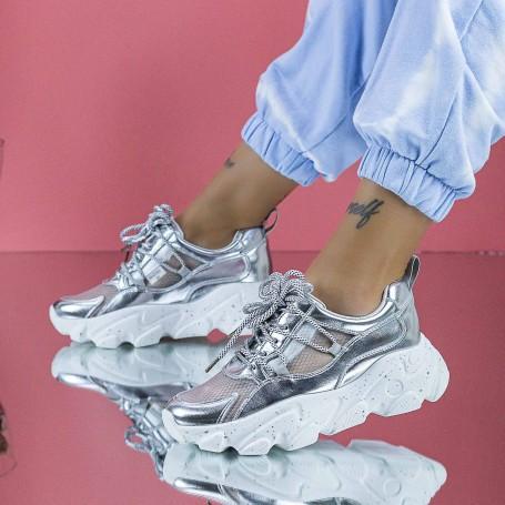 Pantofi Sport Dama SZ327 Argintiu Mei