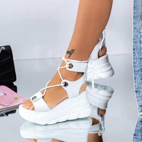 Sandale Dama cu Platforma WLXLH2 Alb Mei