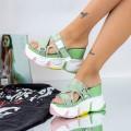 Papuci Dama cu Platforma WLGH29 Verde (D48) Mei
