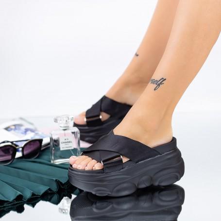 Papuci Dama cu Platforma WLGH30 Negru Mei