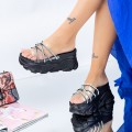 Papuci Dama cu Platforma WLGH35 Negru (K12) Mei