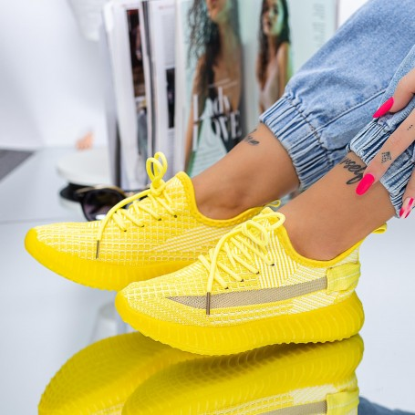 Pantofi Sport Dama XC26 Galben Mei