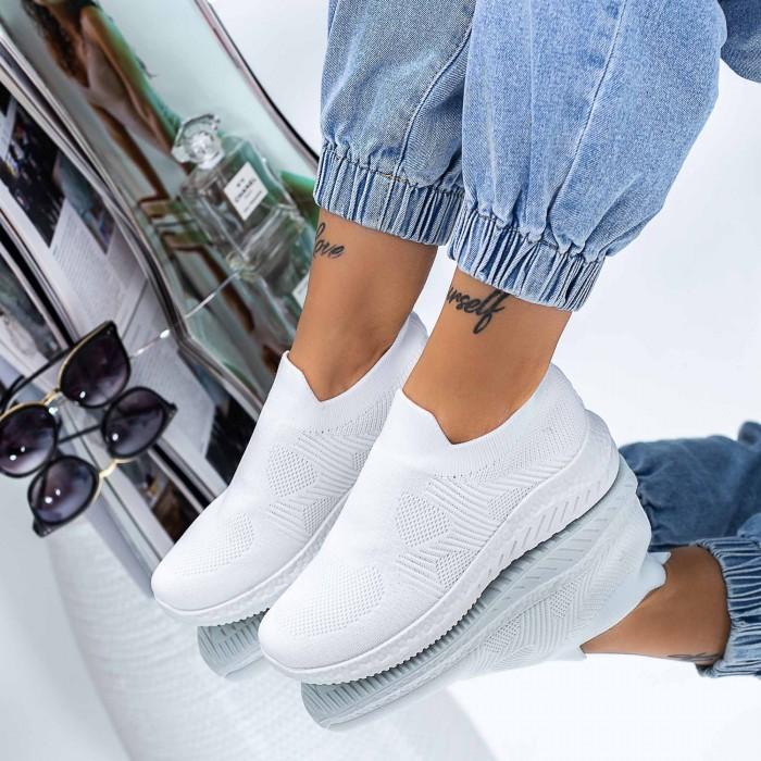 Pantofi Sport Dama LJ1 Alb Mei
