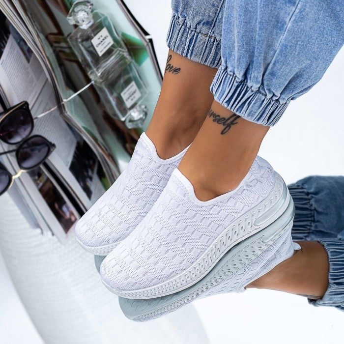 Pantofi Sport Dama S10 Alb Mei