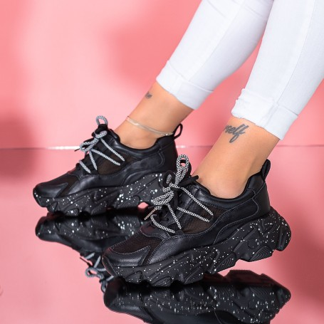 Pantofi Sport Dama SZ327 Negru Mei
