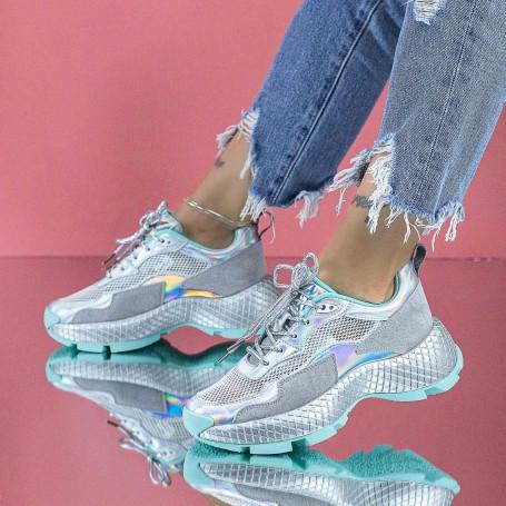 Pantofi Sport Dama SZ329 Verde Mei