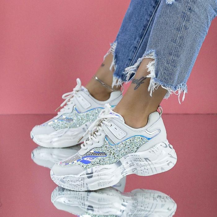 Pantofi Sport Dama SZ330 Alb Mei