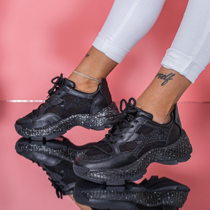 Pantofi Sport Dama SZ332 Negru Mei