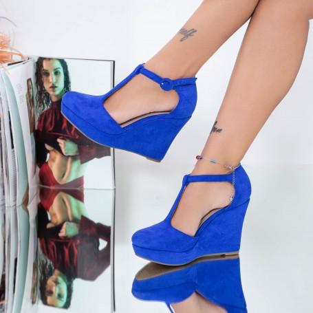 Sandale Dama cu Platforma TY8 Albastru Mei