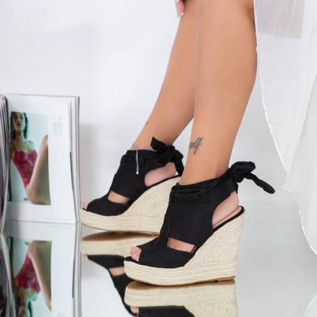Sandale Dama cu Platforma FS33 Negru Mei