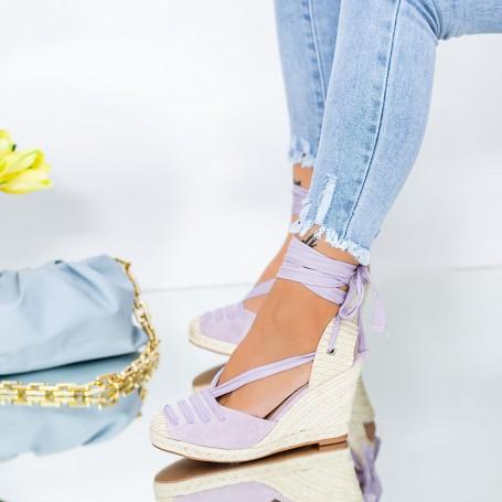 Sandale Dama cu Platforma LE222 Mov Mei