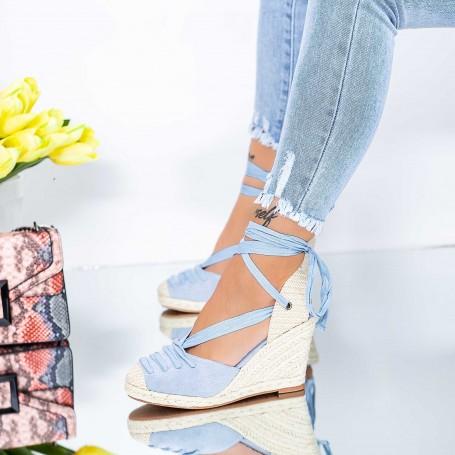 Sandale Dama cu Platforma LE222 Albastru Mei