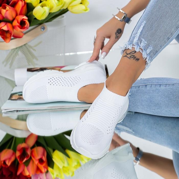 Pantofi Sport Dama TF12 Alb Mei