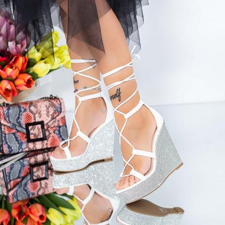 Sandale Dama cu Platforma XKK286 Alb Mei