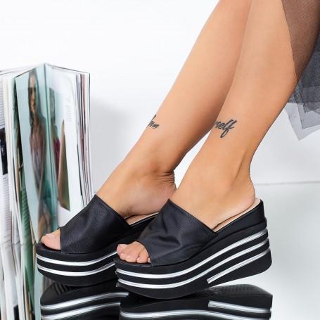 Sandale Dama cu Platforma LM309 Negru Mei