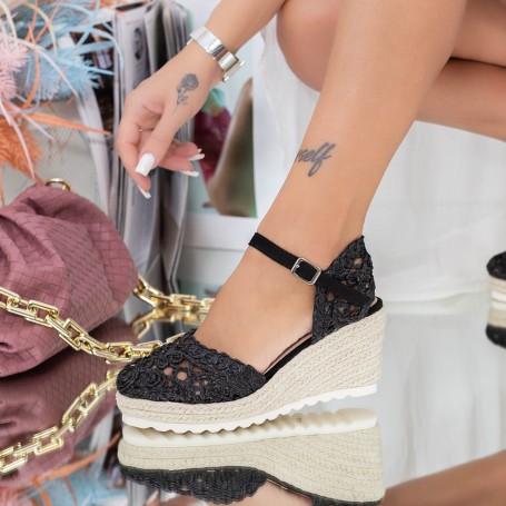 Sandale Dama cu Platforma FS32 Negru Mei