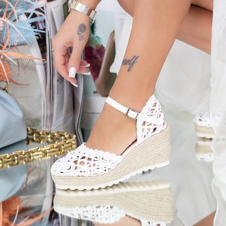 Sandale Dama cu Platforma FS32 Alb Mei