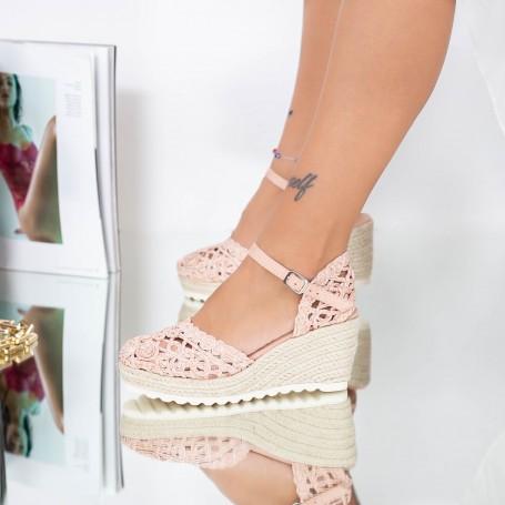Sandale Dama cu Platforma FS32 Roz Mei