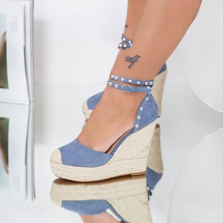 Sandale Dama cu Platforma FS36 Albastru Mei
