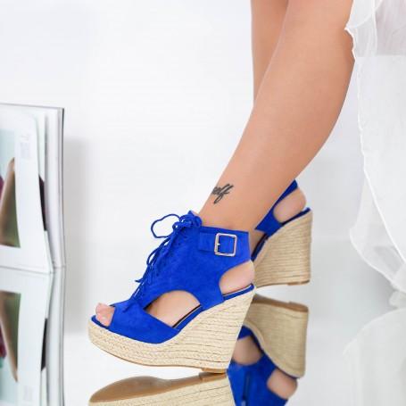 Sandale Dama cu Platforma HXS1 Albastru Mei