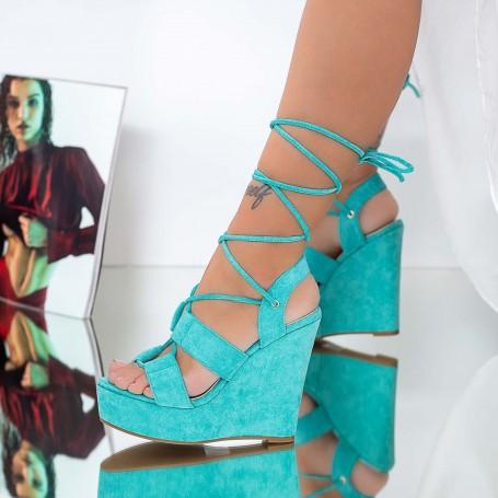 Sandale Dama cu Platforma XKK303 Albastru Mei