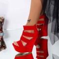 Sandale Dama cu Platforma XKK287 Rosu (N32) Mei