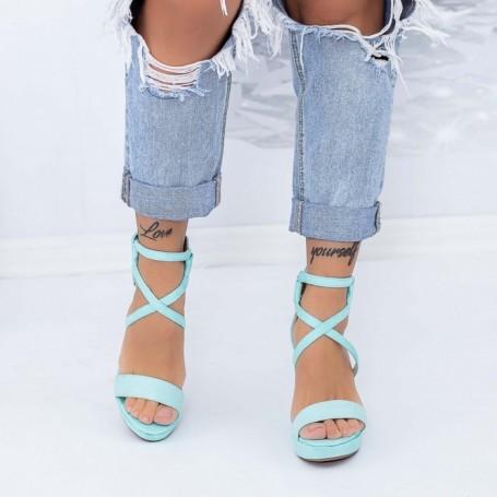 Sandale Dama cu Platforma TY9 Albastru Mei