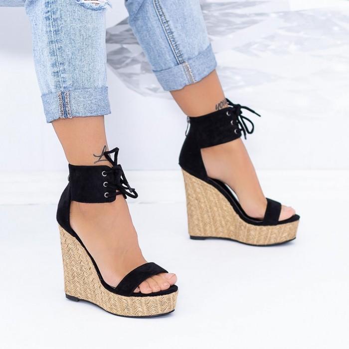 Sandale Dama cu Platforma XKK301 Negru Mei