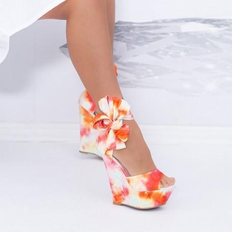 Sandale Dama cu Platforma XKK500 Roz Mei