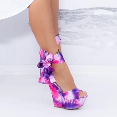 Sandale Dama cu Platforma XKK500 Mov Mei