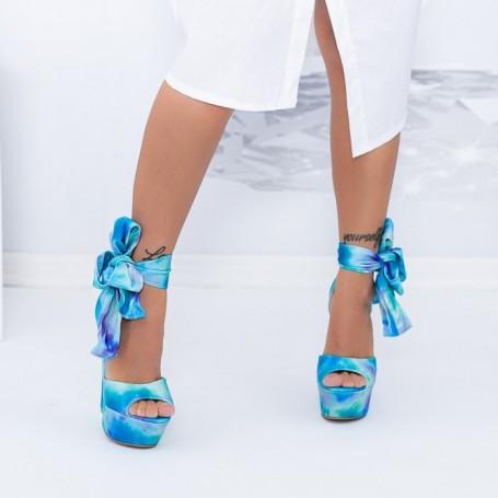 Sandale Dama cu Platforma XKK500 Albastru deschis Mei