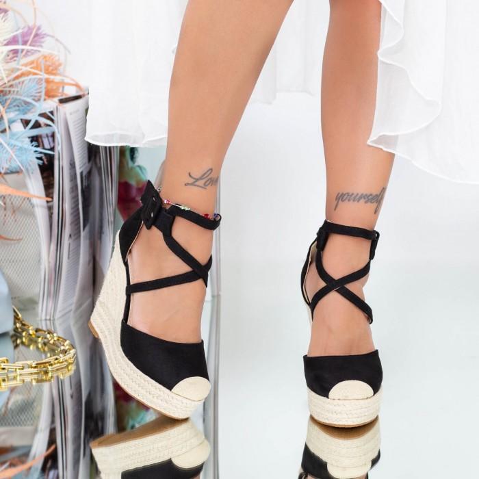 Sandale Dama cu Platforma FS31 Negru Mei