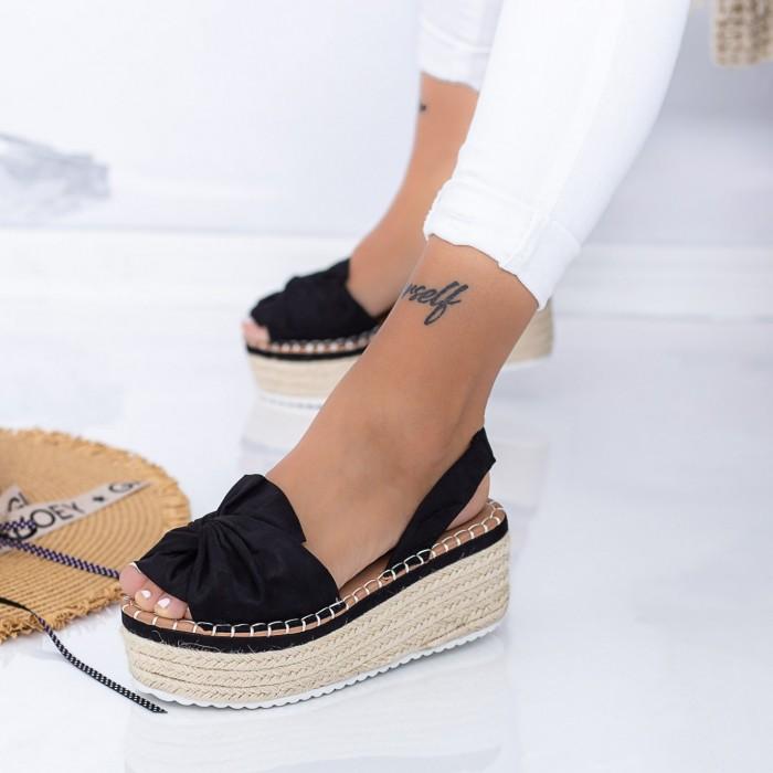 Sandale Dama cu Platforma FS27 Negru Mei