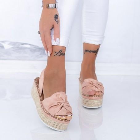 Sandale Dama cu Platforma FS27 Roz Mei