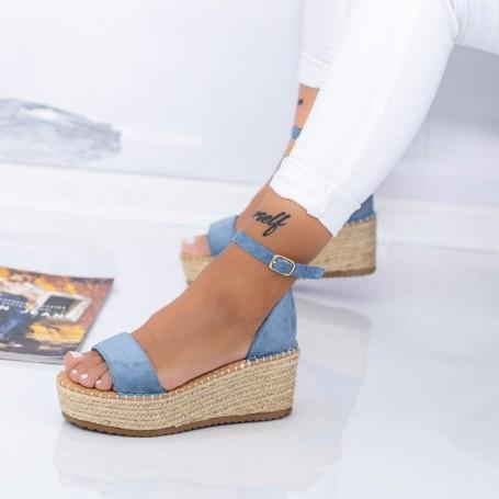 Sandale Dama cu Platforma FS29 Albastru Mei