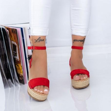 Sandale Dama cu Platforma FS29 Rosu Mei