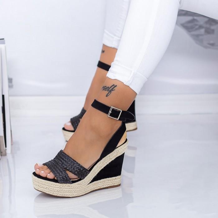 Sandale Dama cu Platforma LE226 Negru Mei