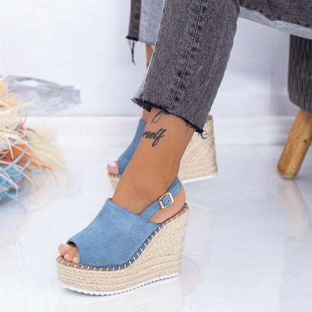 Sandale Dama cu Platforma FS35 Albastru Mei