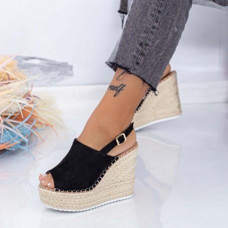 Sandale Dama cu Platforma FS35 Negru Mei