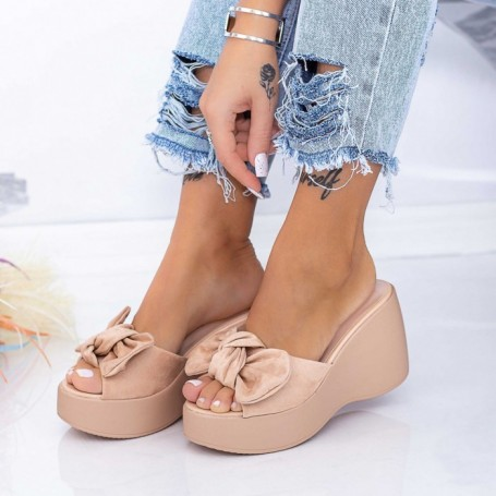 Papuci Dama cu Platforma HXS2 Nude Mei