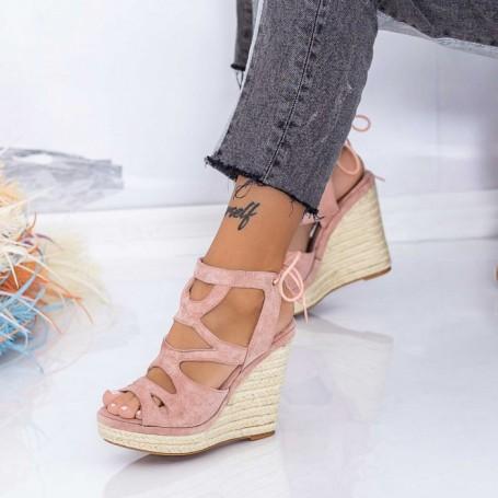 Sandale Dama cu Platforma HXS13 Roz Mei