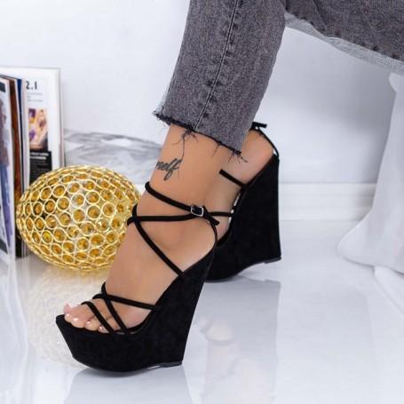 Sandale Dama cu Platforma XKK300 Negru Mei